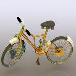 مدل سه بعدی واقع گرایانه دوچرخه
